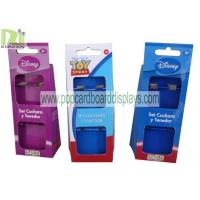 China Supermarket Cardboard Box Package for Utensils , Purple Blue Red wholesale