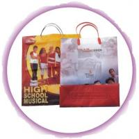 China Side Gusset Bag Custom Plastic Shopping Bags With Handles wholesale