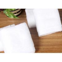 China Bulk Customized Hotel Face Towel White 100% Organic Cotton With Logo wholesale