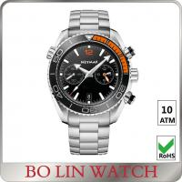 Buy cheap Simple Japanese Chronograph Stainless Steel Sports Watch / Metal Watches For from wholesalers