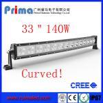 "China 33"" 140W Curved Cree Led Light bar-Single Row Led Light Bar wholesale"