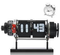 China Black Electro Mechanical Flip Clock on sale