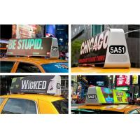 China P5 Double Sided Car Top Advertising Signs , Taxi Cab Roof Signs Wireless 3G/Wifi wholesale