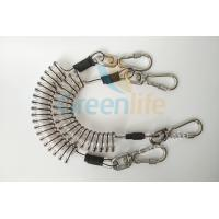 China Core Reinforced Coil Tool Lanyard 1.5 Meters With Stainless Steel Clips wholesale