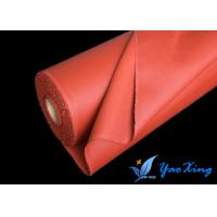 China 0.4mm Silicone Rubber Coated Fiberglass Fabric Material For Flexible Insulation Cover wholesale