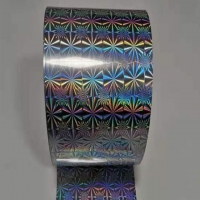 China Glitter Rainbow and Star metalized holographic  Film on roll for packaging wholesale