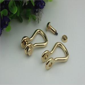 China Customized high quality zinc alloy 10mm D shape metal strap buckle for handbag wholesale