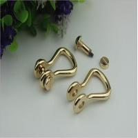 China Factory manufacturing handbag light gold metal d ring strap buckle with nickel free wholesale