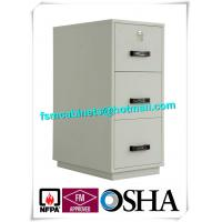 China Steel 3 Drawer Fireproof Safety Cabinet , Fire Resistant File Cabinet For Paper Documents wholesale
