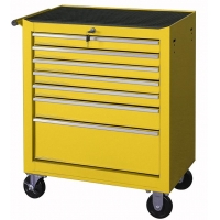 China 24in Movable Metal Mechanic 7 Drawer Tool Storage Cabinets On Wheels wholesale