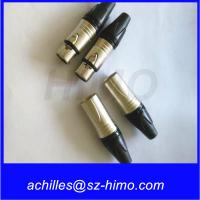 China push pull self-locking wholesale Neutrik NC3FXX female XLR 3-pin Connector, Nickel Shell, Silver Contacts wholesale
