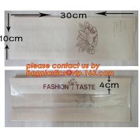 China OEM High Quality Enviromental Clear Window Bread Toast Paper Bags, Brown Kraft Sharp Bottom Food Safe Snack Paper Bags wholesale