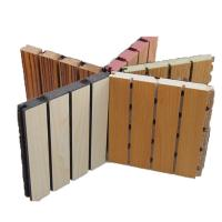 China Sound Absorbing Wooden Grooved Acoustic Panel / Decorative Wall Board for Music Room on sale