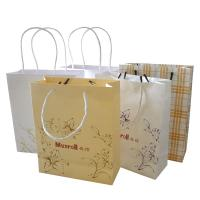 China Twist Handle Paper Bag with Logo Print wholesale