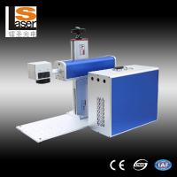 China Buttons Fiber Laser Marking Equipment For Metal , Plastic , Wood wholesale