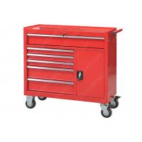 China Red 6 Drawer 1 Door Rolling 42 Inch Tool Cabinet Security Cylinder Lock wholesale
