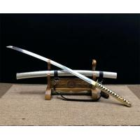 China hand forged T10 steel sword with leather strap SS010 wholesale