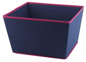 China Blue Collapsible Storage Bin , Foldable Storage Cubes With Lids wholesale