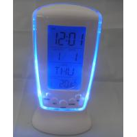China TRAVEL ALARM TABLE CLOCK WITH TEMPERATURE AND HUMIDITY AND BACKLIGHT ET639B wholesale