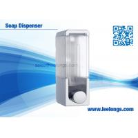 China 300ml Single Tank Manual Liquid Soap Dispenser Square For Hotel on sale