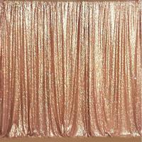 China Rose Gold Satin Sequin Fabric Backdrop Long Durability Light Reflects Customized wholesale