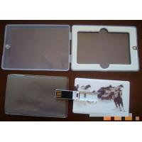 Buy cheap 4G, 8G, 16G customized Credit Card USB Drives flash memory disks from wholesalers