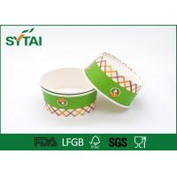 China FDA / SGS / ISO9001 Customised Paper Ice Cream Cups Printing For Fruits on sale