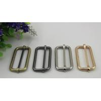 China ECO -friendly multi-color 50 mm iron metal adjustable buckle for bag belt fittings wholesale
