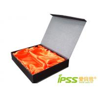 China Rigid Corrugated Decorated Gift Boxes With Mounting Cloth For Strap wholesale