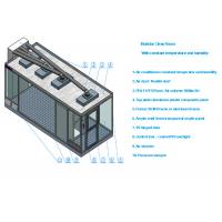 China Class 100 Sandwich Panel Clean Room With Air conditioner And 99.99% HEPA Filter wholesale