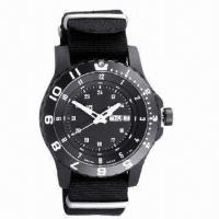 China Newest Style Plastic Watch with Plastic Case and Nylon Strap Mix Color Strap, 2013 Best Disscount wholesale