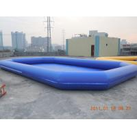China Amusement PVC tarpaulin Inflatable water pool 0.6mm - 0.9mm for Summer Aqua Theme Park wholesale