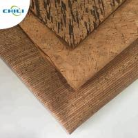 China Wooden Pu Pvc Leather Fabric , Etsy Cork Fabric Abrasion Resistant Easy Cleaning wholesale