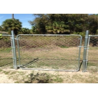 China 8FT X 50FT Chain Link Fabric Fence With Razor Barbed Wire For High Level Security wholesale