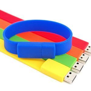China silicone USB flash drive wristband 8GB wholesale