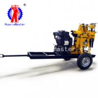 China Huaxia Master sup[ply wheeled core drilling rig/XYX130 hydraulic towed core drilling rig/water well drill rig wholesale