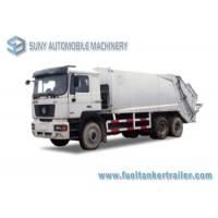 China 3 Axle Compression Garbage Trucks 10000kg Load Diesel SHACMAN 20M3 6X4 wholesale