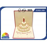 China Customized 3D Festival Greeting Cards Happy Cake for Birthday Pop Up Card wholesale