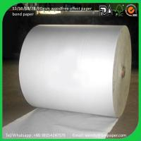 China Cheap book printing paper uncoated woodfree offset paper 60gsm wholesale