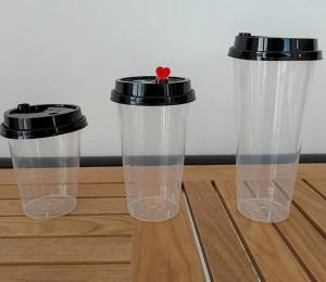 China 500ml Disposable Transparent Heat Resistant Plastic PP Cup With Lid wholesale