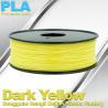China Makerbot Material Fluorescent Dark Yellow PLA 3d Printer Filament 1.75mm / 3.0mm wholesale