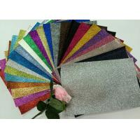 "China 1/128"" Glitter Mixed Colors PU Glitter Fabric PU Cloth Backing For Christmas Box wholesale"