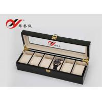 China Luxury Watch Box In MDF / Steel Paint 6 Units Watch Storage Box For Men wholesale