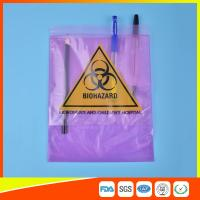 China Medical / Laboratory Specimen Transport Bags Plastic Resealable With Document Pouch wholesale