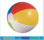 China Glossy Panel Colorful Beach Balls , High Safety Personalized Mini Beach Balls wholesale