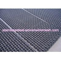 China Carbon Steel High Tensile Crimped Wire Mesh With Square Aperture And Round Wire In Sheet wholesale