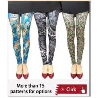 China South africa hot sale summer printed pantyhose ,famous artist's legging,OEM tight pants wholesale