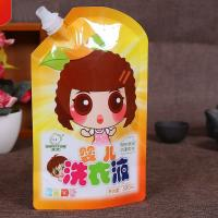 China Soft Drink Milk Liquid Spout Bags Gravure Printing Custom Logo With Straw wholesale