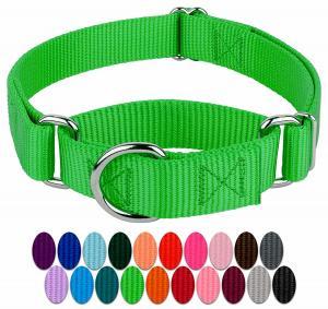 China Heavy Duty Soft Nylon Dog Collar , Metal Buckle Dog Collar 21 Colors Option wholesale