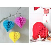 China Heart Shaped Honeycomb Paper  Party Decoration Wedding Wall Decoration on sale